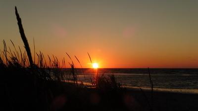 Noch ein Sonnenaufgang an der Ostsee