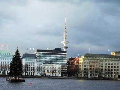 viele Jahre Tradition: Weihnachtsbaum auf der Alster