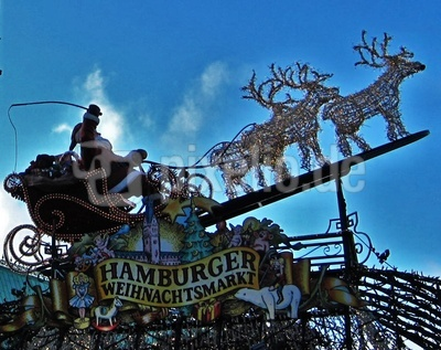Hamburger Weihnachtsmarkt-Eingang
