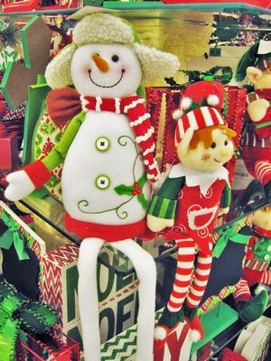 Amerikanische Weihnachtsdokorationen