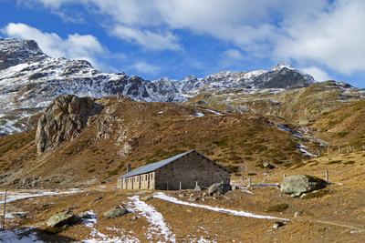 Verlassene Hochalp auf dem Berninapass
