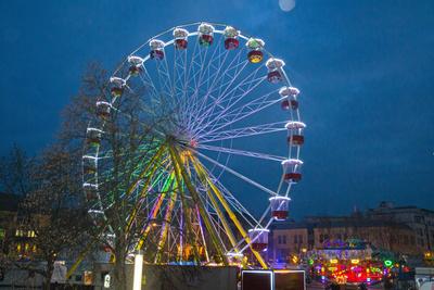 Riesenrad auf dem Jenaer Weihnachtsmarkt