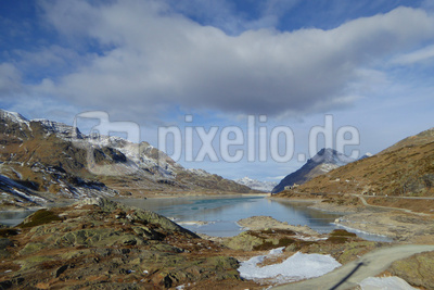 Rückblick zum Passo del Bernina