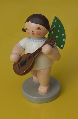 Erzgebirgsfigur: Engel mit Gitarre