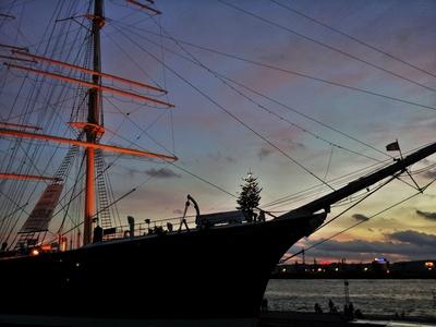 Weihnachten am Hamburger Hafen, Rickmer Rickmers