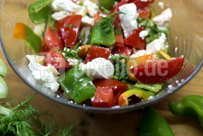 Erfrischender Paprika-Ricotta Salat mit Fenchel