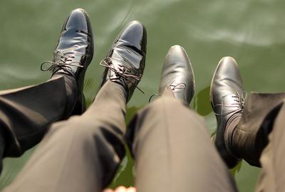 Beine Brautpaar