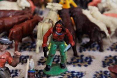 Spielzeugindianer-Nahaufnahme