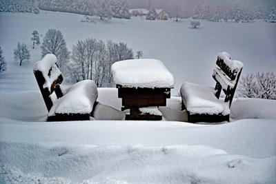 Es liegt noch Schnee