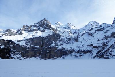 Winter am Öschinensee (Schweiz)