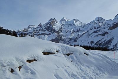 Im Skigebiet Kandersteg