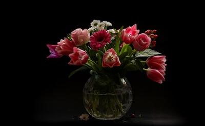 frühlings-impressionen in der vase