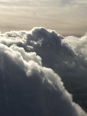 Eintauchen in die Wolken