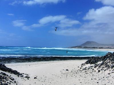 Kiter am Meer