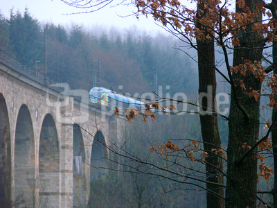 Regentag am Viadukt in Altenbeken