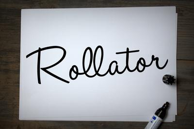 Rollator auf Papier