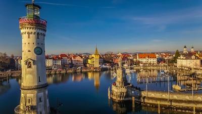 Lindau Bodensee Hafen / Turm und Löwe