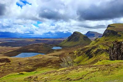 Quiraing-Gebirge auf der Insel Skye