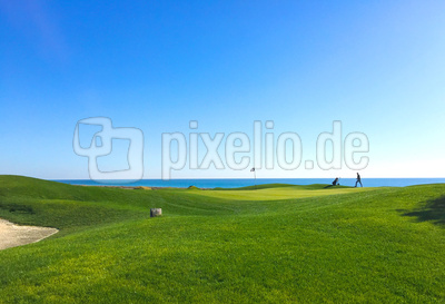 Golfer auf Links-Course 2