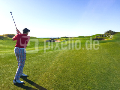 Golfer auf Links-Course