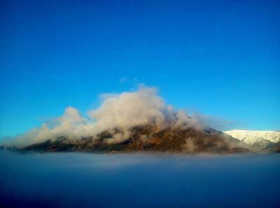 Berg in Wolken