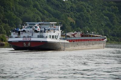 Frachtschiff mainabwärts