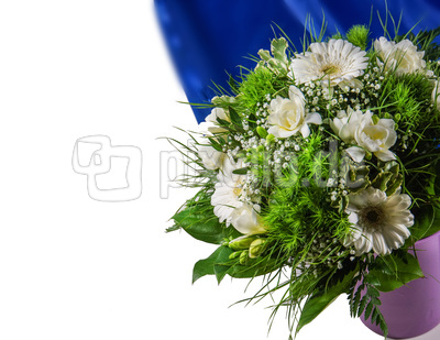 weiss-grüner Blumenstrauss