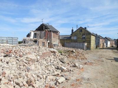 Ein Dorf wird beseitigt