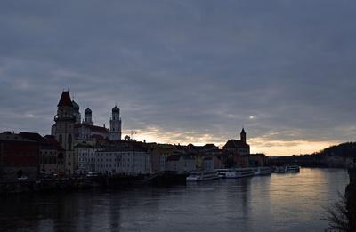 Abenddämmerung in Passau