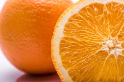 orange geschnitten