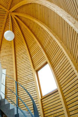 Holzbau - Dachkonstruktion (Bienenkorbhaus)