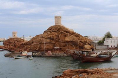 Oman -Schiffe bei Sur
