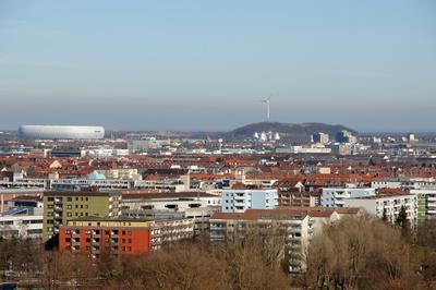 Blick vom Olympiaberg , München