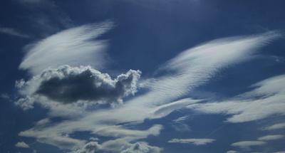 Wenn der Wind mit den Wolken spielt