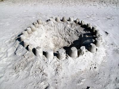 Sandtorte am Strand