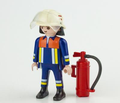 Feuerwehr Playmobil-Zugführer mit Feuerlöscher