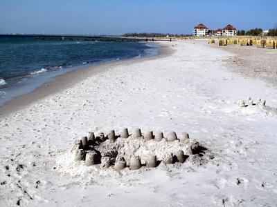 Kleine Sandtürme am Südstrand