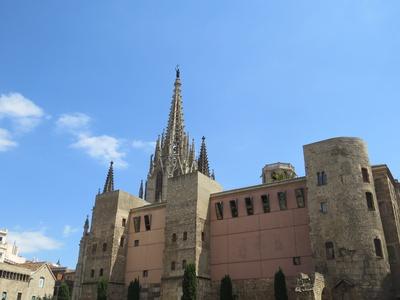 Barcelona, Kathedrale und Muralla Romana, römische Stadtmauer