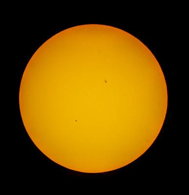 Merkur vor der Sonnenscheibe am 09.05.2016