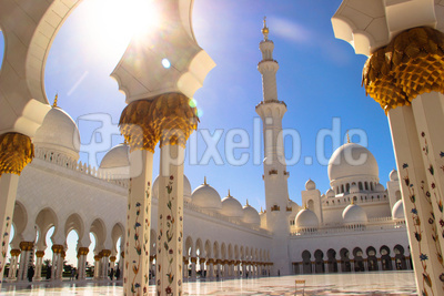Strahlende Sheikh Zayed Moschee
