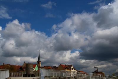 Wolken über Bad Neustadt