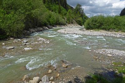 Zusammenfluss der zwei Sense-Flüsse