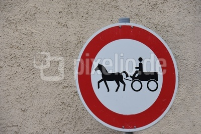 keine durchfahrt für pferdefuhrwerke