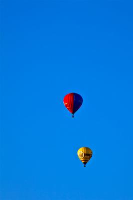 Ballonfahrer unterwegs