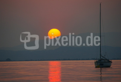 Sonnenuntergang , Gardasee
