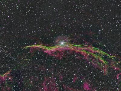 NGC 6960 in Falschfarbentechnik