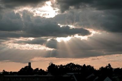 Himmelsspektakel am Abend