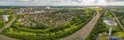 Blick von Leverkusen nach Köln