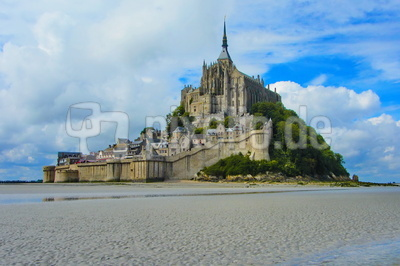 Le Mont-Saint-Michel bei Ebbe