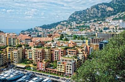 Dicht bebaut - Fürstentum Monaco